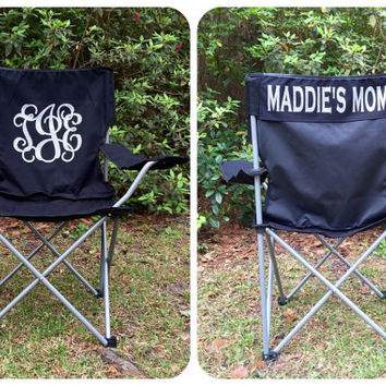 Monogrammed Folding Chair, Softball, Baseball, Soccer Mom Personalized Chair