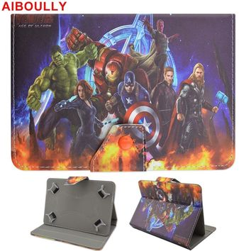 AIBOULLY Batman Avengers Case 10.1 Universal 10 Inches For Samsung T580 T585 Chuwi Hi10 Hi10 Pro tablet PC Stands Mount Holder