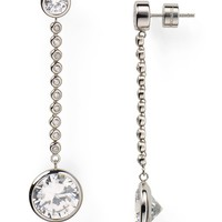 Michael Kors Clear Crystal Drop Earrings | Bloomingdale's