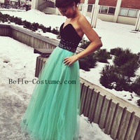 Tulle Prom Dress, Tulle Prom Dresses, Long Prom Dresses