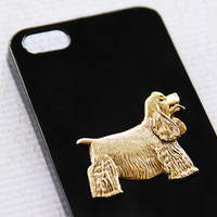 Cocker Spaniel Apple iPhone 5 and 5s Trendy High Gloss Black Hard Cover Case iPhone 6 Case