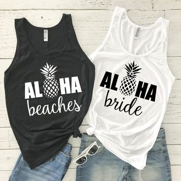 Aloha Beaches Pineapple Tank Tops