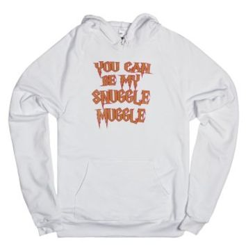 You Can Be My Snuggle Muggle-Unisex White Hoodie