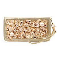 Pearls And RhinestoneLeather Clutch on Luulla