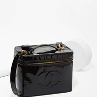 Vintage Chanel Patent Leather Jumbo Vanity Bag