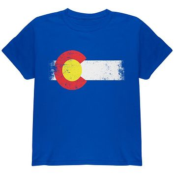 Born and Raised Colorado State Flag Youth T Shirt