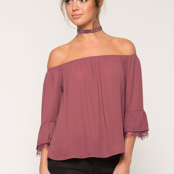 Lace Preview Off Shoulder Top