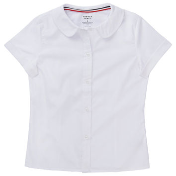 Girls 4-20 & Plus Size French Toast School Uniform Peter Pan Collar Short-Sleeved Blouse