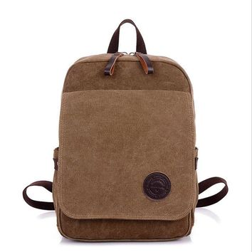 Casual Canvas Bagpack Backpacks  men travel big capacity bag pack backbag rucksack