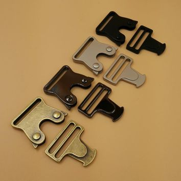 NEW 4 Colors 5Pcs For 25mm Webbing Strap Quick Release Buckles Side Release Metal Buckles Shackle For DIY Bags Parts Accessories