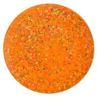 Zak Designs Confetti 11-Inch Recycled-Melamine Dinner Plate, Orange