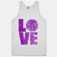 Love Volleyball (Purple)