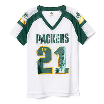 new style 3f91f c74d0 Green Bay Packers Bling V-neck Jersey - PINK - Victoria's Secret