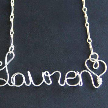 Personalized Name Necklace Custom Wire