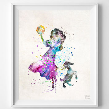 Esmeralda Print, Esmeralda Watercolor Art, Hunchback Notre Dame, Disney Poster, Nursery Posters, Dorm Decor, Home Decor, Halloween Decor