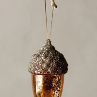 Sparkled Acorn Ornament by Anthropologie