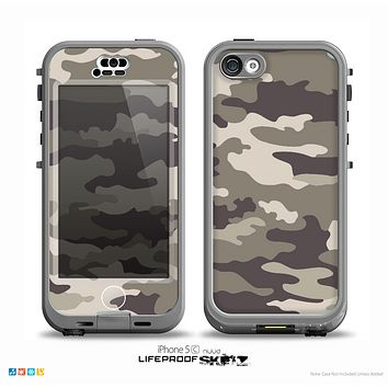 The Vector Camouflage Pattern V4 Skin for the iPhone 5c nüüd LifeProof Case