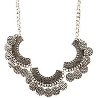Silver Hammered Coin Collar Necklace by Charlotte Russe