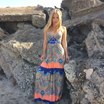 SKY Moonstone Paisley Maxi Dress