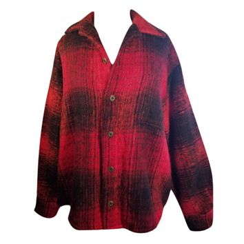 Mens Jacket, Buffalo Plaid, Fishing, Camping, Outdoors, Lumberjack, Casual, Western, Country, Plaid