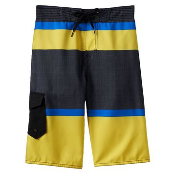 Hang Ten Striped Swim Trunks - Boys 8-20, Size: