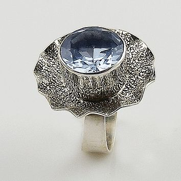 Alexandrite Sterling Silver Tea Cup Ring