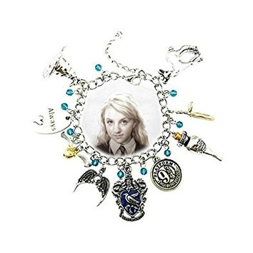 Harry Potter Ravenclaw Silver Tone Cartoon Comic Logo Charm Bracelet w/Gift Box by Superheroes