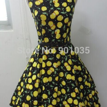 Free Shipping VINTAGE RETRO FIFTIES 50's STYLE FULL CIRCLE FLARED DRESS CHOOSE PRINT  size 8-24