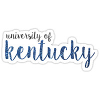'University of Kentucky' Sticker by Emily Cutter