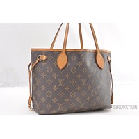Tagre™ Authentic Louis Vuitton Monogram Neverfull PM Tote Bag M40155 LV 39481