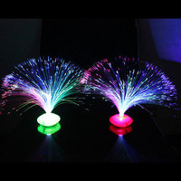 Colorful Changing LED Fiber Optic Night Light Lamp Stand Home Decor Colorful HU