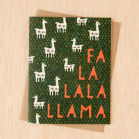 Ferme A Papier Fala Llama Holiday Card - Urban Outfitters