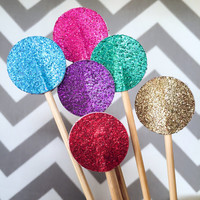 Glitter Drink Stirrers - 24 Sparkle Swizzle Sticks - Wedding Stir Sticks // Cocktail Stir Sticks // New Year's Eve Decor