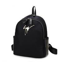 Brand Like Rivet Fashion Leather Shoulder Candy Multi Color Women Casual Messenger Bags Chic Backpack Bag  _ 8345