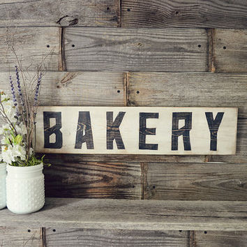 Bakery Rustic Sign, Farmhouse Decor, Farmhouse Signs, Rustic Home Decor, Fixer Upper Decor, Rustic Kitchen Decor, Kitchen Decor