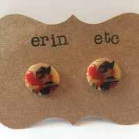 Handmade Plastic Fandom Earrings - Comic Pinup - Batwoman