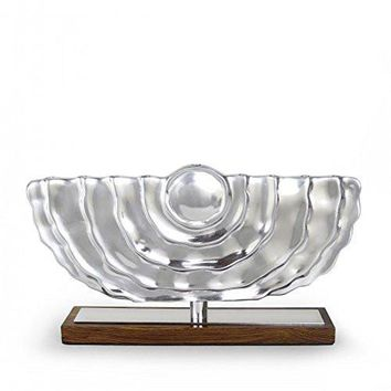 Quest Collection Modern Design Ripples Hanukkah Menorah