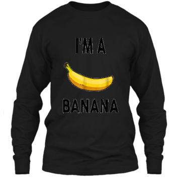 I'm a banana  - Halloween Banana Costume  LS Ultra Cotton Tshirt