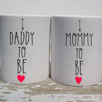 Mommy and Daddy To Be Coffee Mug | Pregnancy Announcement | New Mom | Pregnancy Announcement Ideas | New Dad | Baby Shower Gift | New Baby