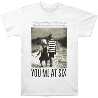 You Me At Six Men's  Together We'll Float Slim Fit T-shirt White