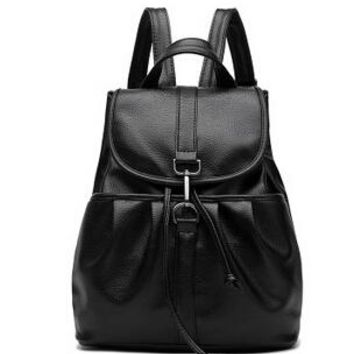 Cool Backpack school COOL WALKER NEW Fashion Black Backpack Women Backpack Leather School Bag Women Casual Style High Quality Ladies Bags Designer AT_52_3