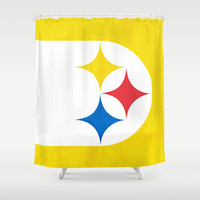 Steel City Shower Curtain by Shipwreck Moon Designs