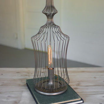 Wire Finial Table Lamp #2