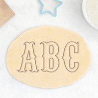 Carnival Letter Cookie Cutter – Alphabet Cookie Cutter Vintage Circus Typography Type Font Cookie Cutter Birthday Cookie Cutter – 3D Printed