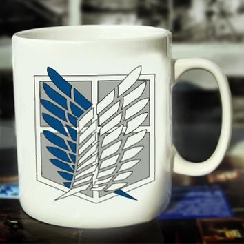 Cool Attack on Titan New  Ceramic Coffee Mug White Color Or Color Changed Cup Logo---Loveful AT_90_11