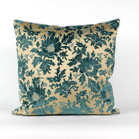 Luxury Blue Velvet Pillow Cover - Designer Pillow - Velvet Cushion Cover - Throw Pillow Cover 20x20 - Decorative Couch Pillow by EllaOsix