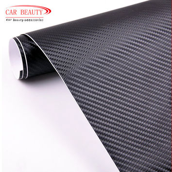 New 2017 Car Styling 50*200cm DIY Waterproof Car Stickers 3D Car Carbon Fiber Vinyl Many Color Available Decorative Film Paper