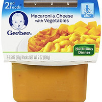 Gerber 2nd Foods Macaroni & Cheese with Vegetables, 4 Ounce Tubs, 2 Count (Pack of 8)