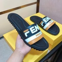Fendi Men Casual Sandals slippers Shoes Boots fashionable casual leather Sandals slippers