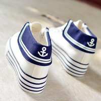 Japanese students navy canvas shoes